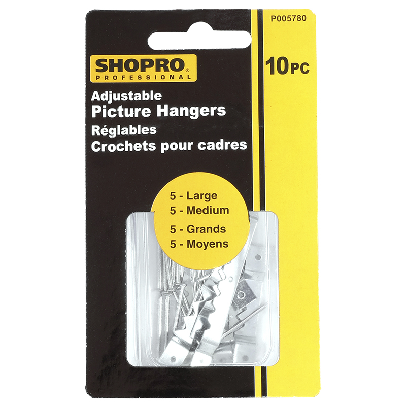 Shopro Adjustable Picture Hangers - 10's