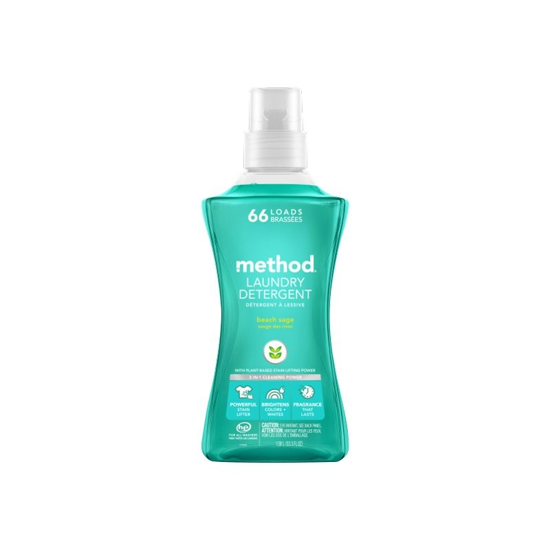 Method 4X Concentrated Laundry Detergent - Beach Sage - 1.58L/66 load