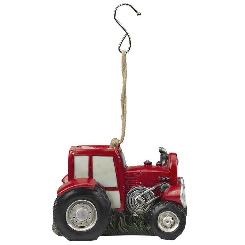 Décor Solar Tractor with Light - Red - AP3675RD
