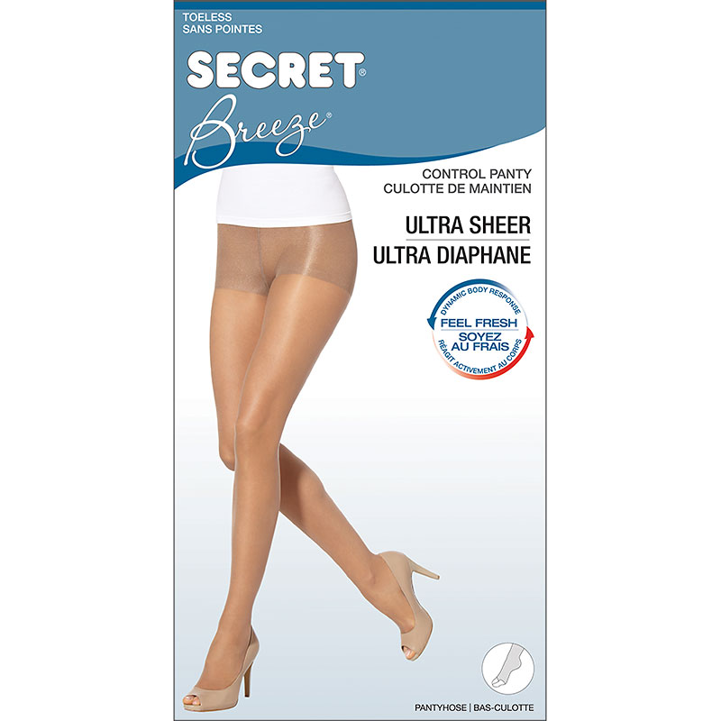 Secret Breeze Toeless Control Top - D - Neutral