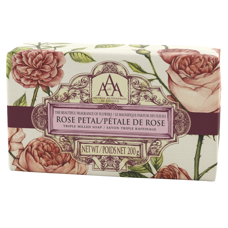 Aromas Artesanales De Antigua AAA Triple Milled Soap - Rose Petal - 200g