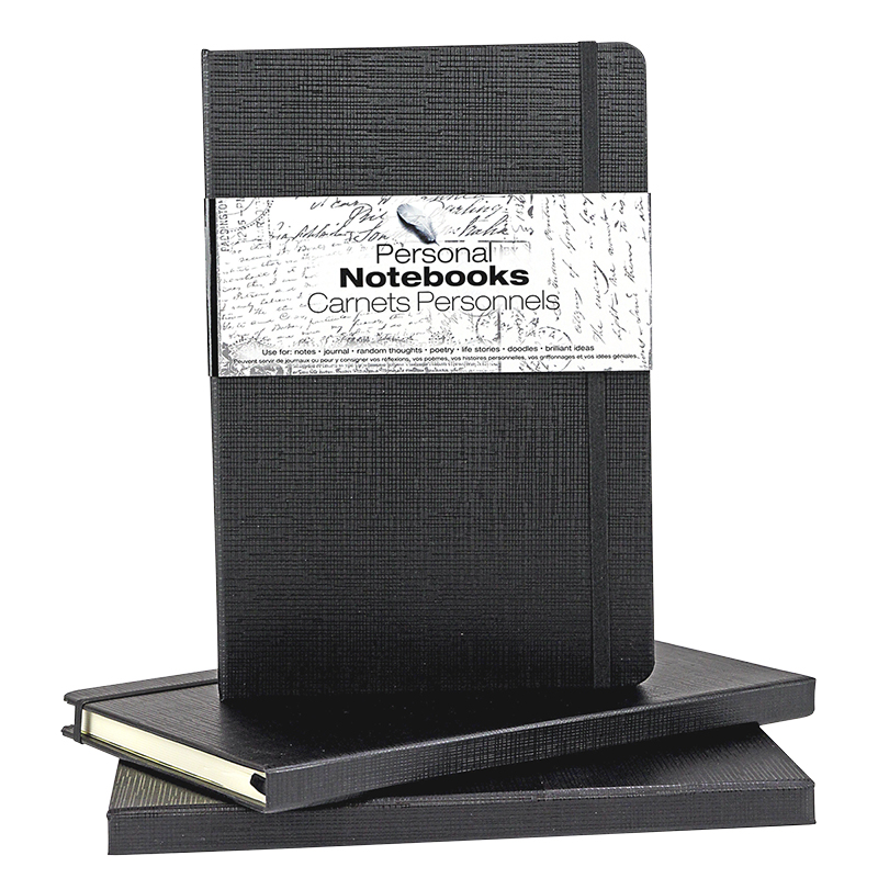 SpiceBox Notebooks - Black - 3 pack