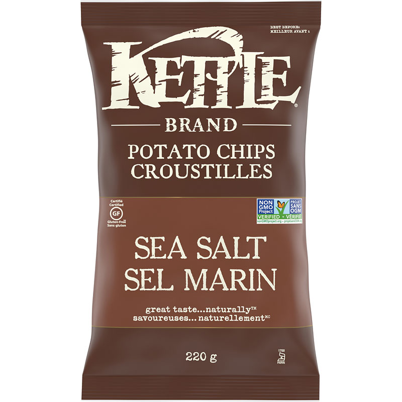 Kettle Brand Potato Chips - Sea Salt - 220g