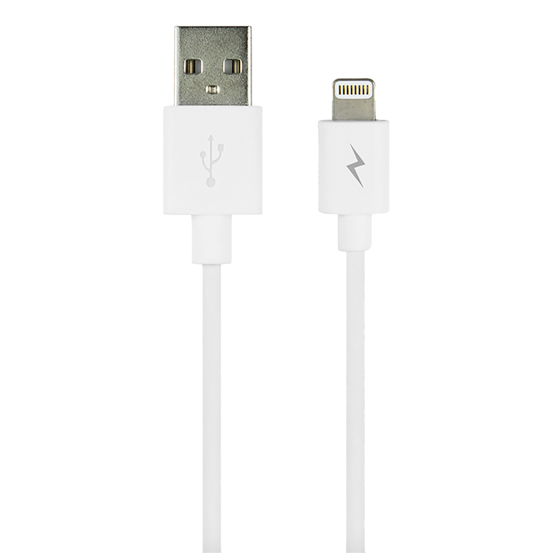 Logiix Sync and Charge Jolt - 1.2M Lightning Cable - White - LGX12162
