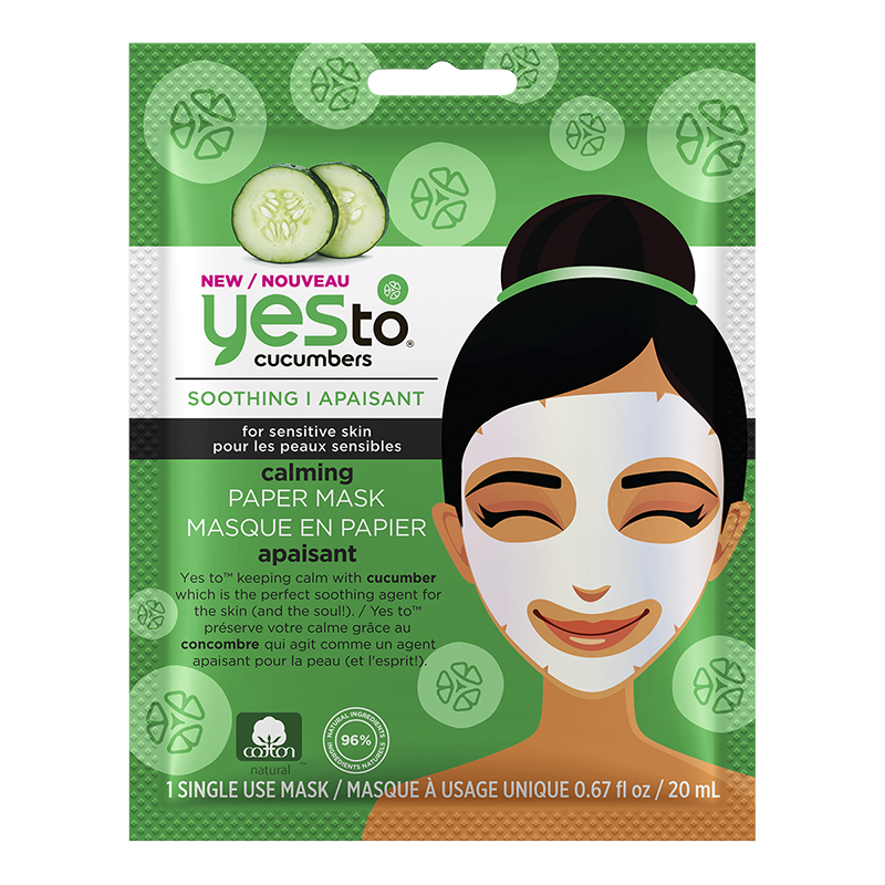 Yes To Cucumber Calming Paper Mask - 1 Single Use