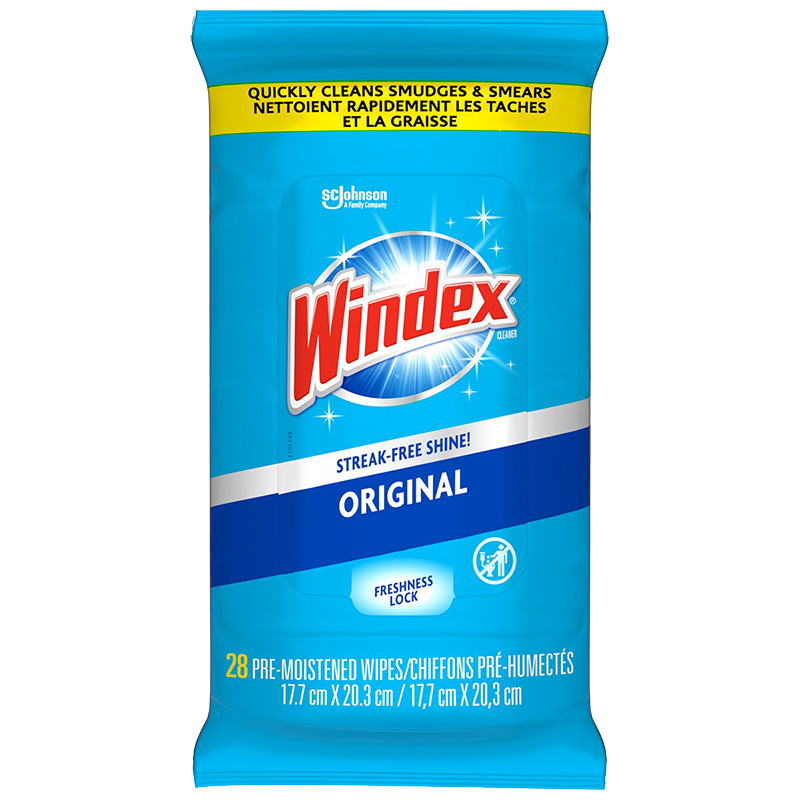 Windex Glass Wipes Pouch - Original - 28's