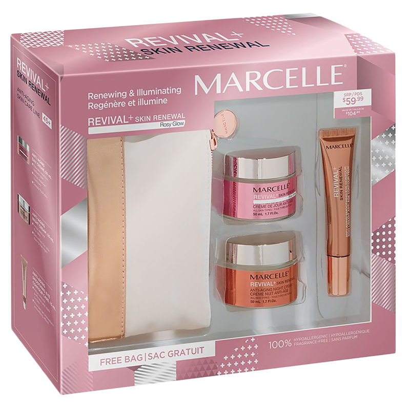 Marcelle Revival+ Skin Renewal Rosy Glow Cosmetic Gift Set - 3 piece