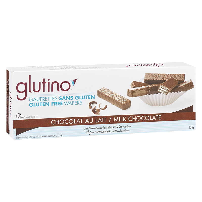 Glutino Milk Chocolate Coated Wafer Cookies - Gluten Free - 130g