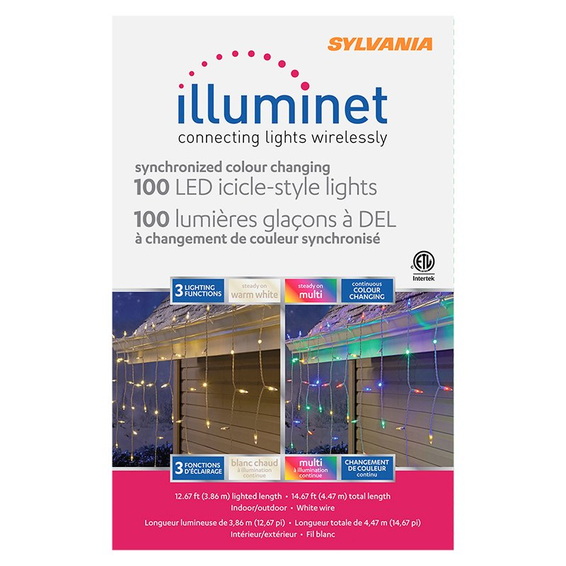 Sylvania Illuminet LED Indoor/Outdoor Icicle Lights