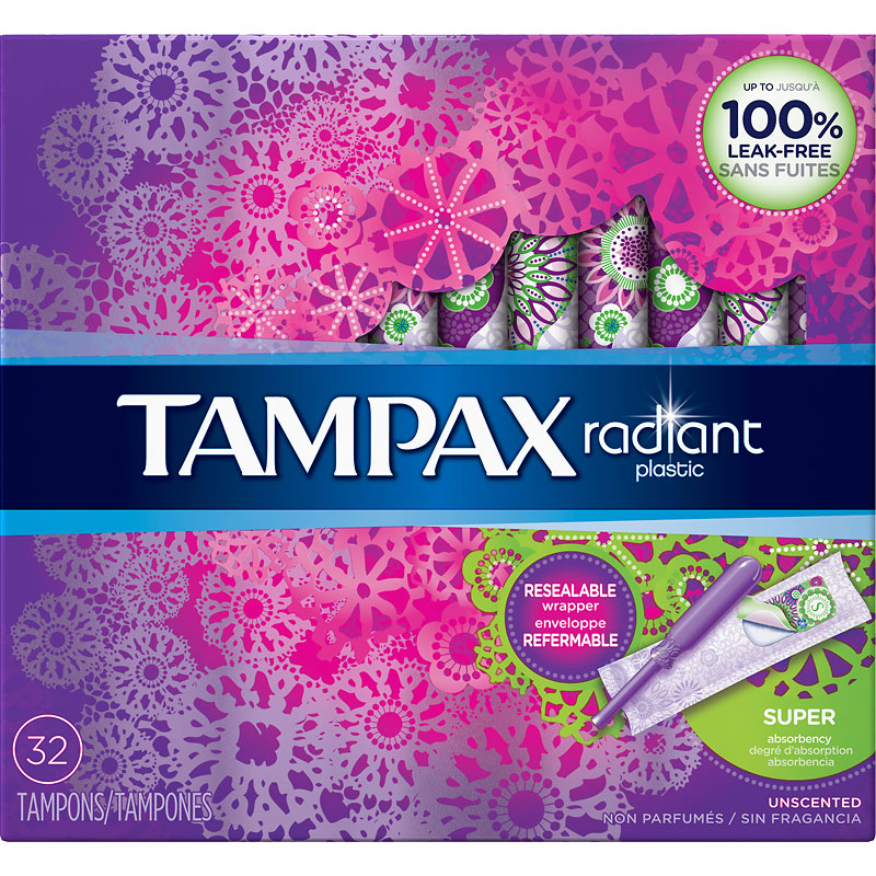 Tampax Radiant Tampons - Super - 32's
