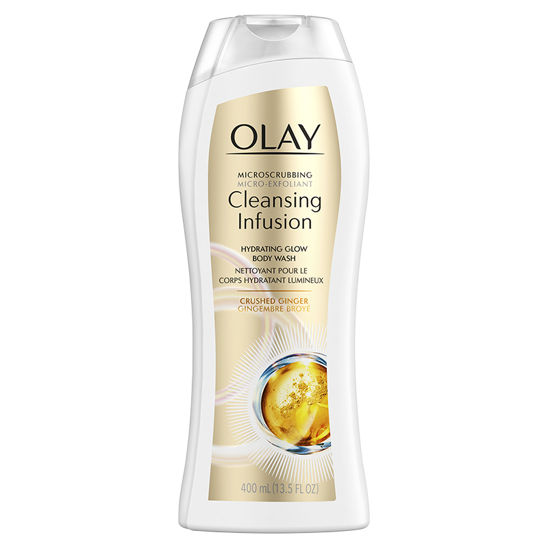 Olay Cleansing Infusion Hydrating Glow Body Wash - Crushed Ginger - 400ml