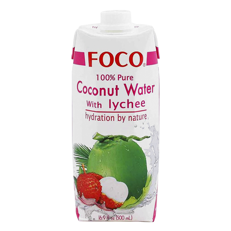 Foco Coconut Water - Lychee - 500ml