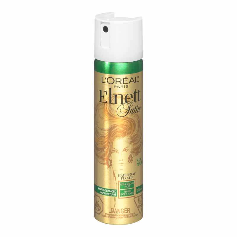 L'Oreal Elnett Satin Unfragranced Hairspray - Extra Strong Hold - 75ml