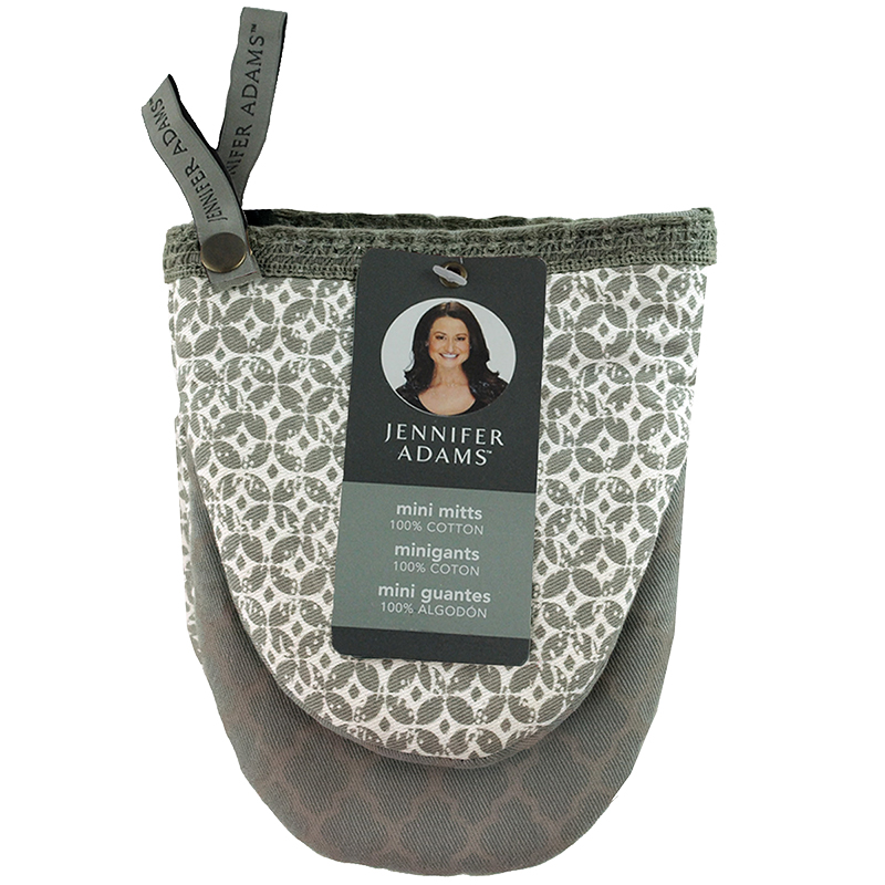 Jennifer Adams Mini Oven Mitts - Grey - One Pair