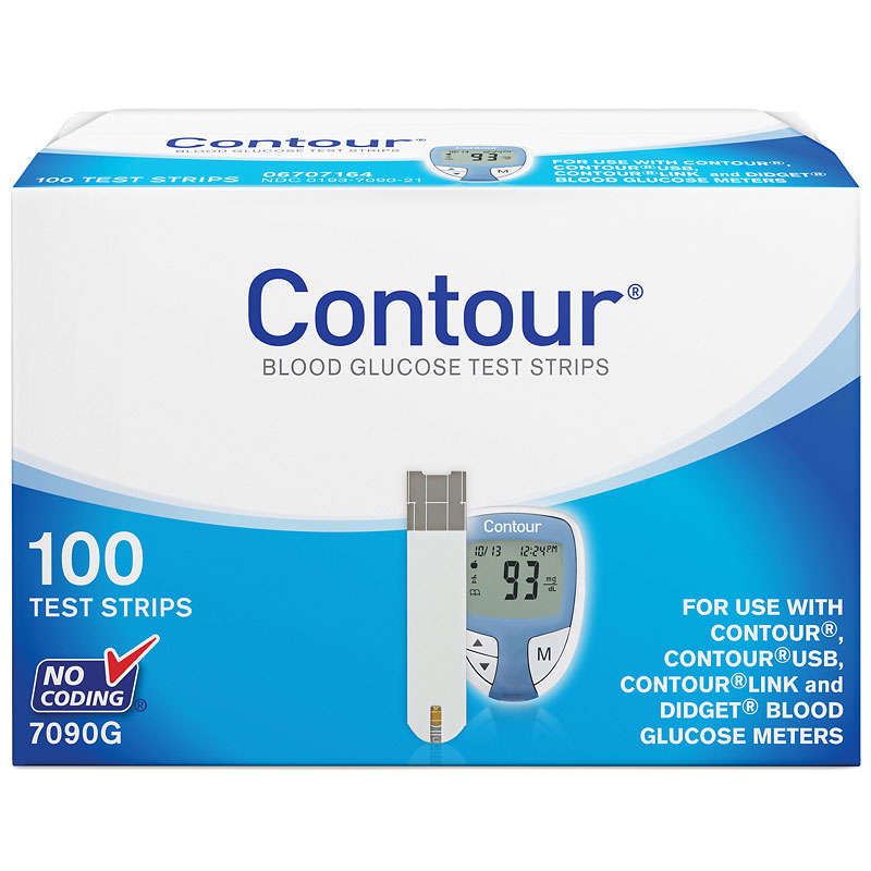 Contour Blood Glucose Test Strips - 100's