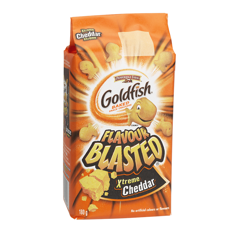 Pepperidge Farm Goldfish Crackers - Extreme Cheddar - 180g