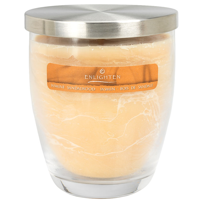 Wax Jar Candle with Lid - Jasmine Sandalwood - 10oz