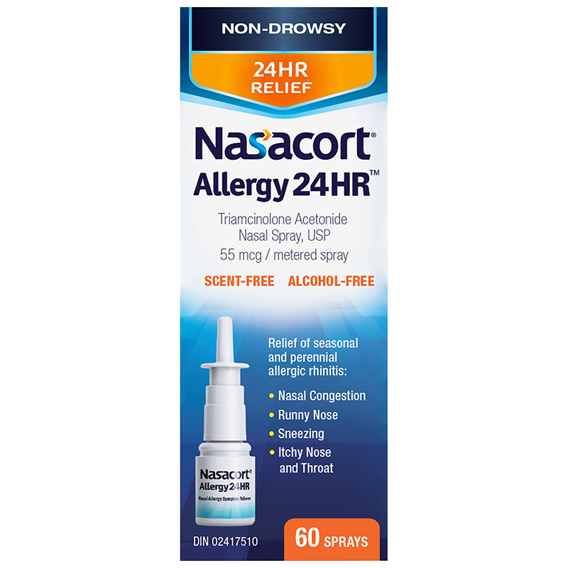 Nasacort Allergy 24HR Nasal Spray - 60 Doses