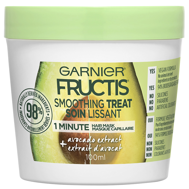 Garnier Fructis Smooth Treat 1 Minute Hair Mask - Avocado - 100ml