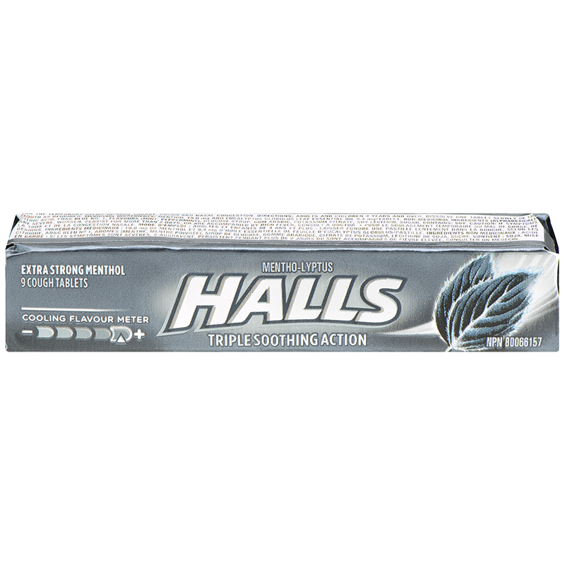 Halls - Extra Strength - 9 tablets
