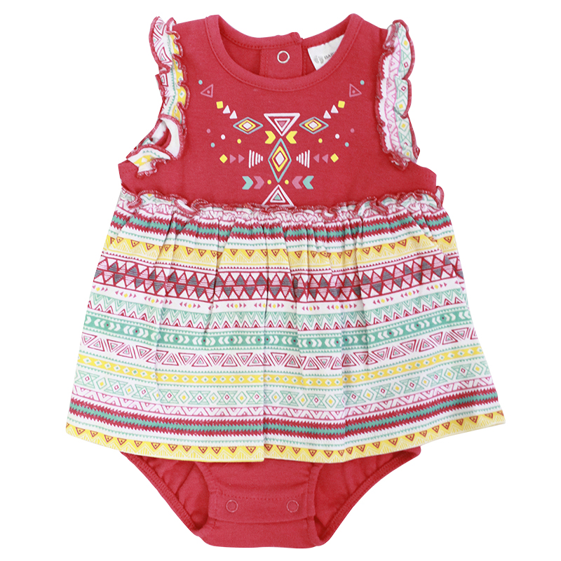 Baby Mode Sleeveless Romper - Girls - 0-24 months - Assorted