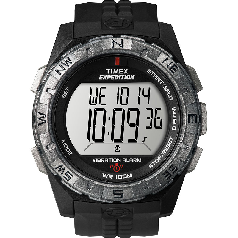 Timex Expedition Vibration Alarm Watch -Black - T49851GP