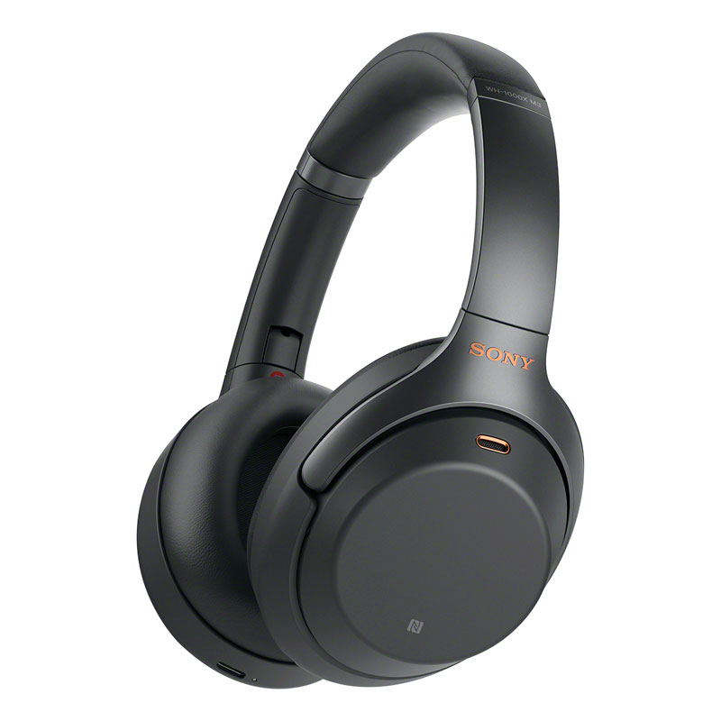 Sony Bluetooth Noise-Cancelling Hi-Res Headphones - Black - WH1000XM3B