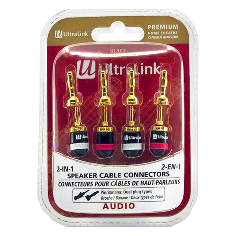 UltraLink 2-in-1 Premium Speaker Cable Connectors - ULSC2