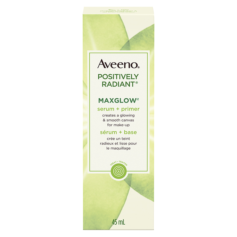 Aveeno Positively Radiant Maxglow Serum + Primer - 45ml