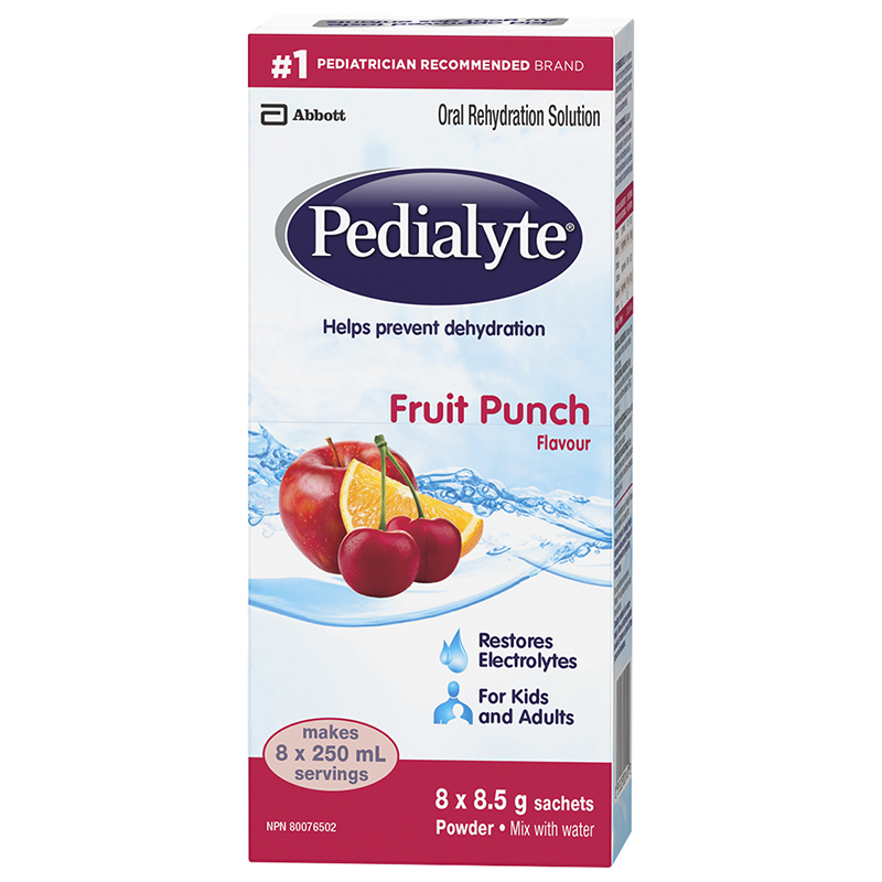 Pedialyte Powder - Fruit Punch - 8 x 8.5g