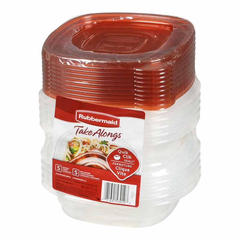 Rubbermaid Take Alongs Value Pack - 10 Pack