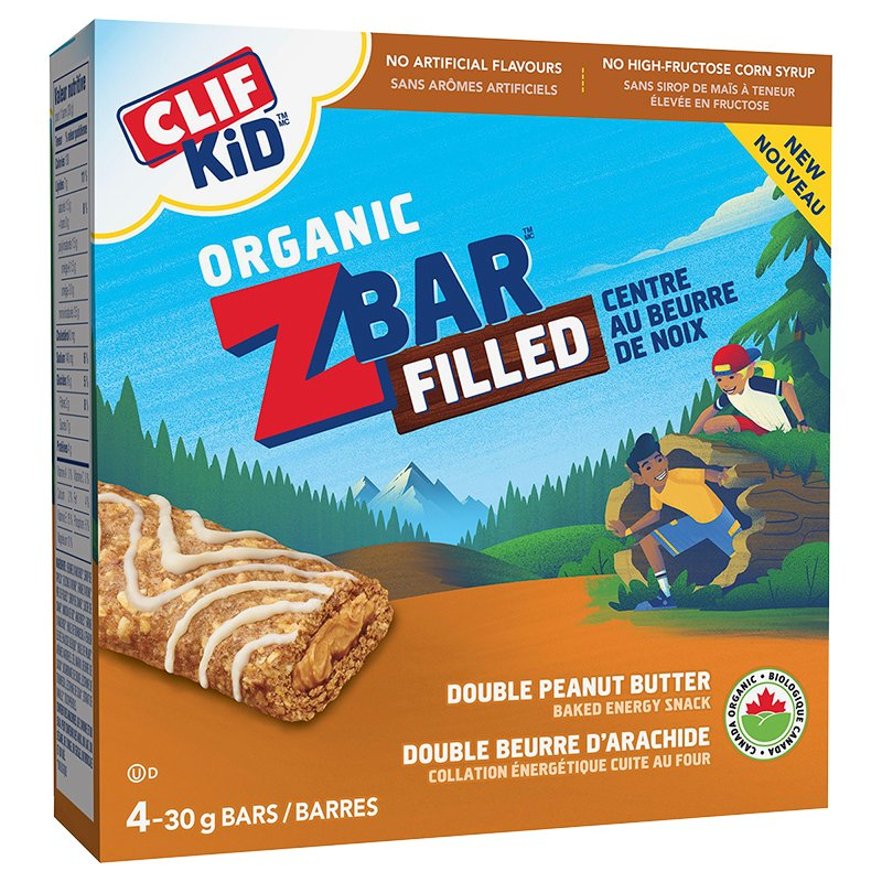 Clif Kid Organic Zbar - Double Peanut Butter - 4 Pack