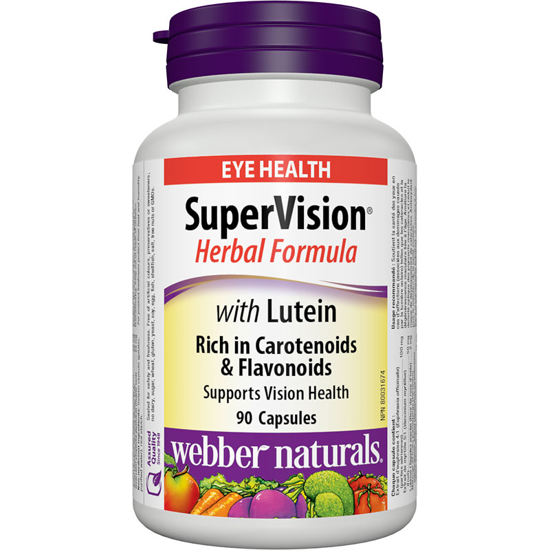 Webber Naturals Supervision Herbal Formula with Lutein - 90's