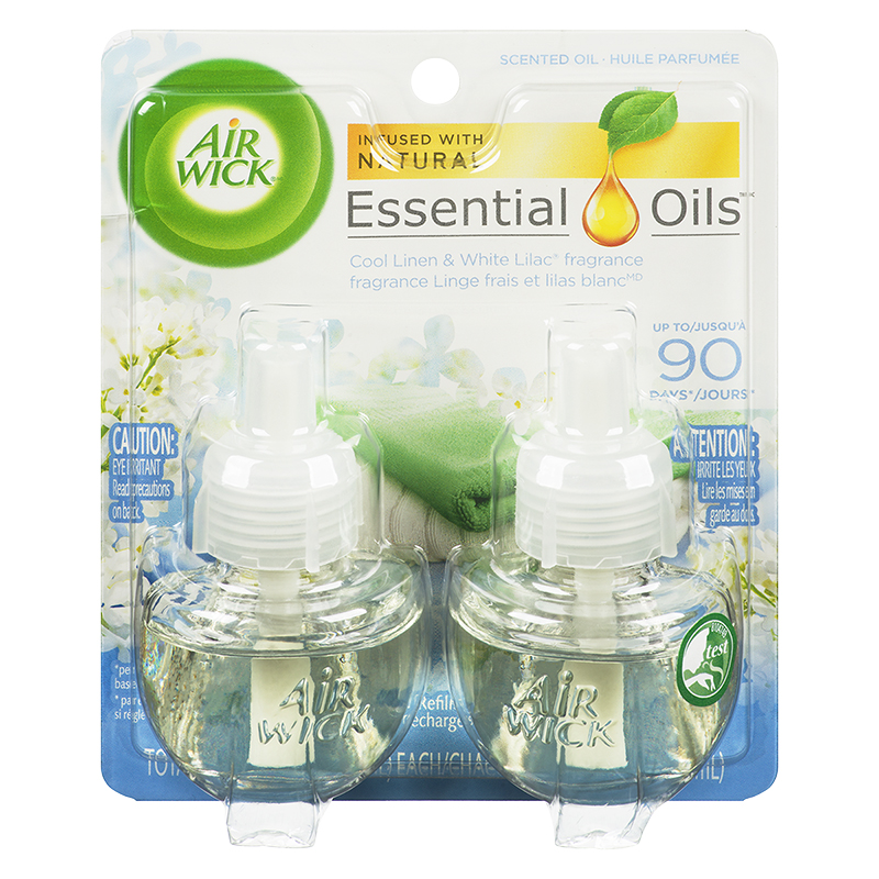 Air Wick Scented Oil Refill - Cool Linen and White Lilac - 2 x 21ml