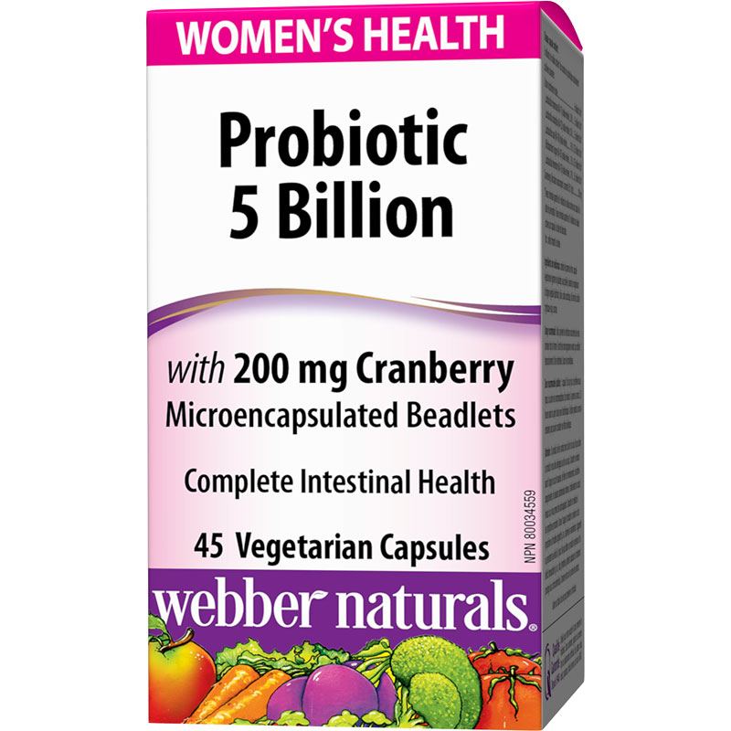 Webber Naturals Women's Probiotic with Cranberry - 45's