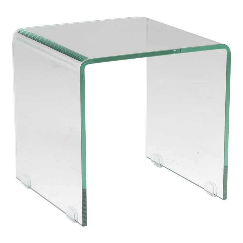 London Drugs Tempered Glass Side Table - 38 x 38 x 38cm