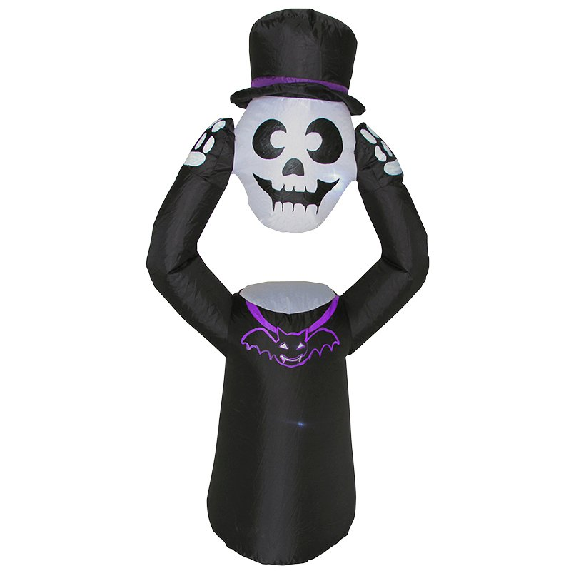 Danson Inflatable Skeleton Holding Head - 47.25in