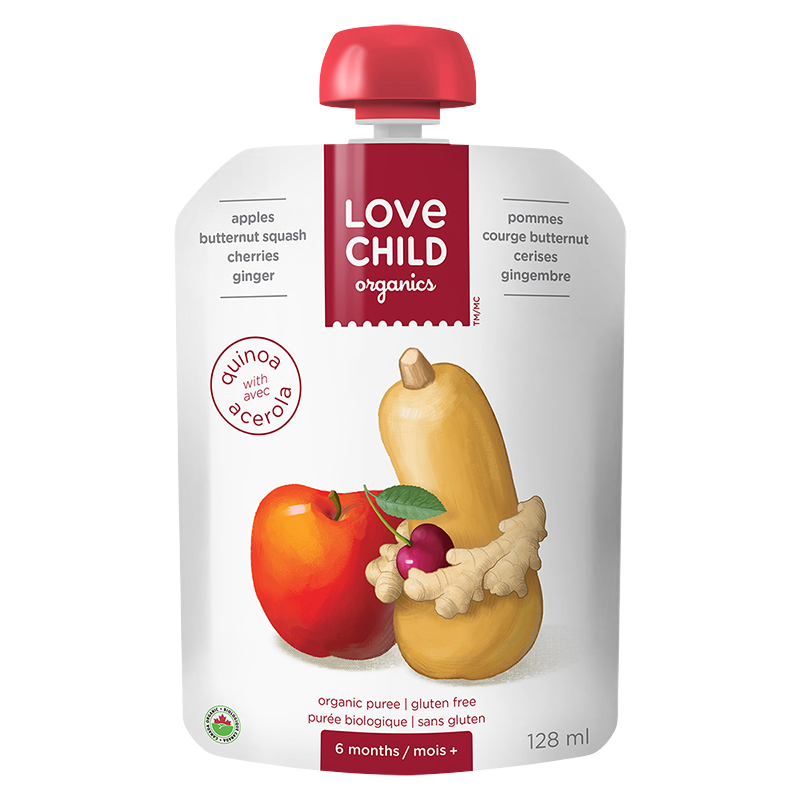 Love Child Apples, Butternut Squash, Cherries and Ginger - 128ml