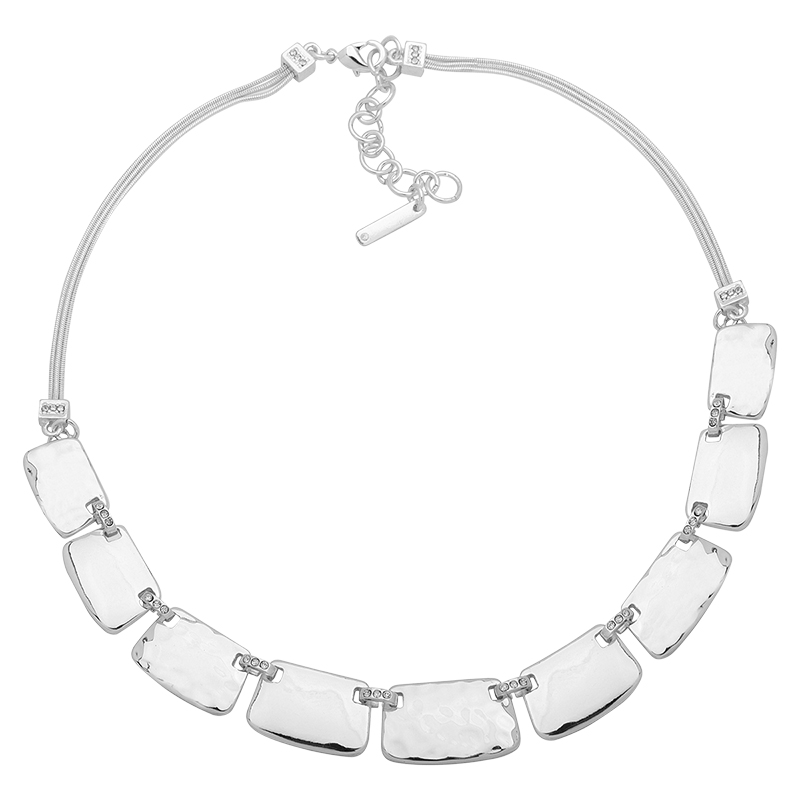 Nine West Frontal Necklace - Silver - 16 in