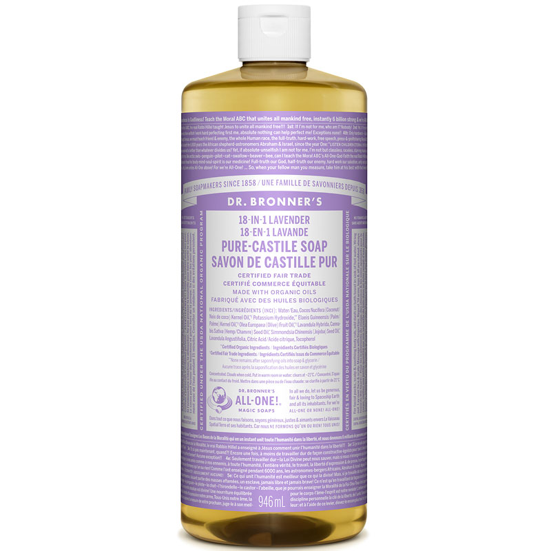 Dr. Bronner's 18-IN-1 Pure-Castile Liquid Soap - Lavender - 944ml