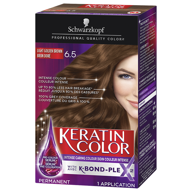 Schwarzkopf Keratin Color Anti Age Permanent Hair Colour 6 5 Light Golden Brown