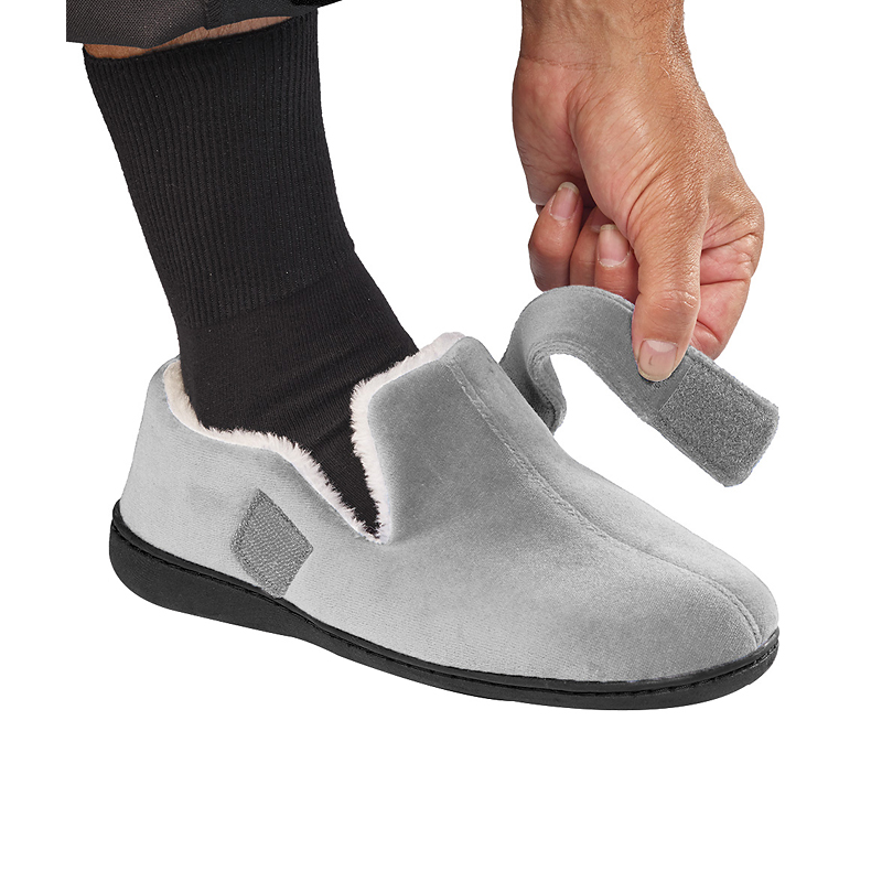 Silvert's Mens Wide  VELCRO®  Slippers
