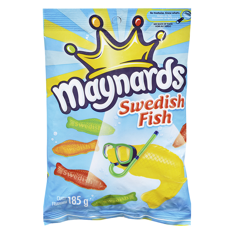 Maynards Swedish Fish - Assorted - 185g