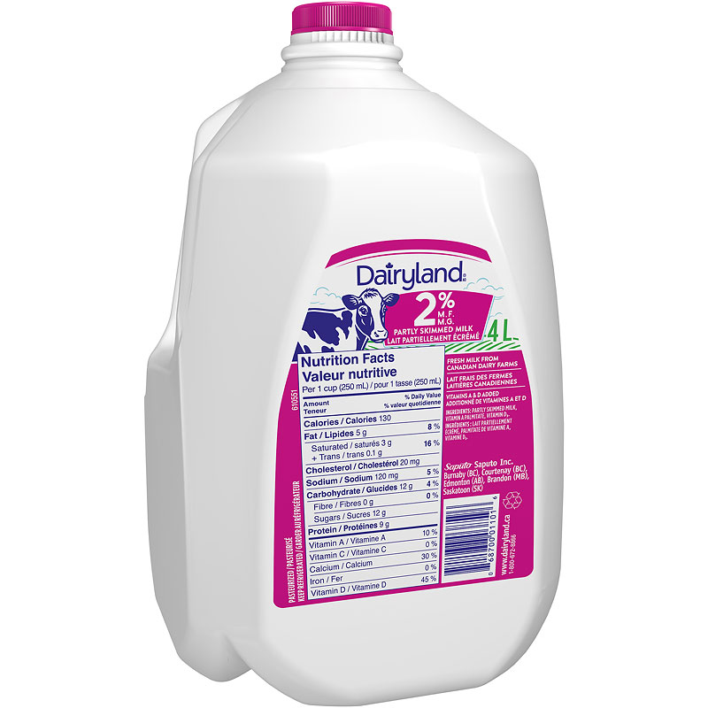 Dairyland Milk - 2% - 4L