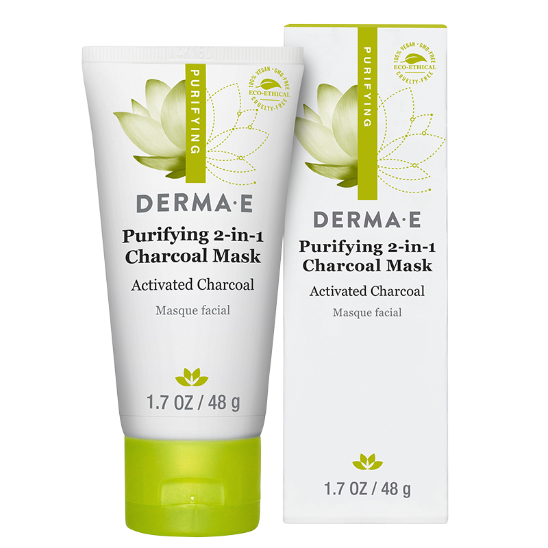Derma E Purifying 2-in-1 Charcoal Mask - 48g