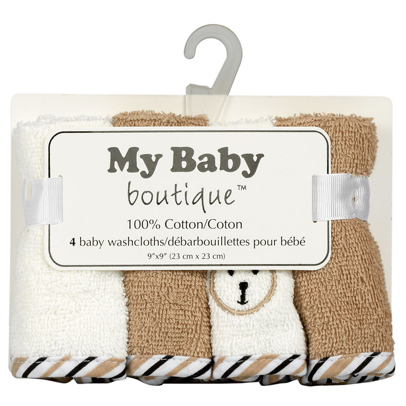 My Baby Washcloths - 4 pack - Assorted