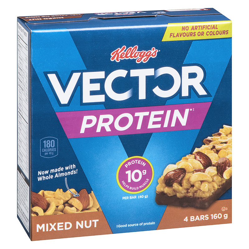 Kellogg's Vector Protein Bars - Mixed Nut - 4 pack