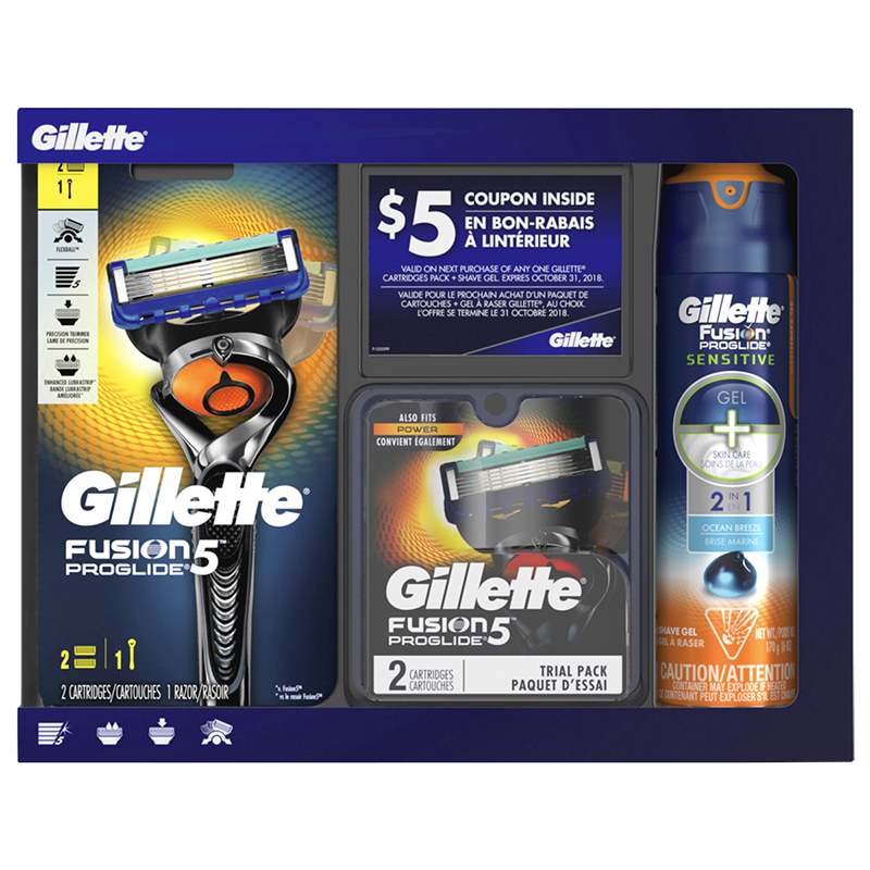 Gillette Fusion5 Proglide Holiday Pack