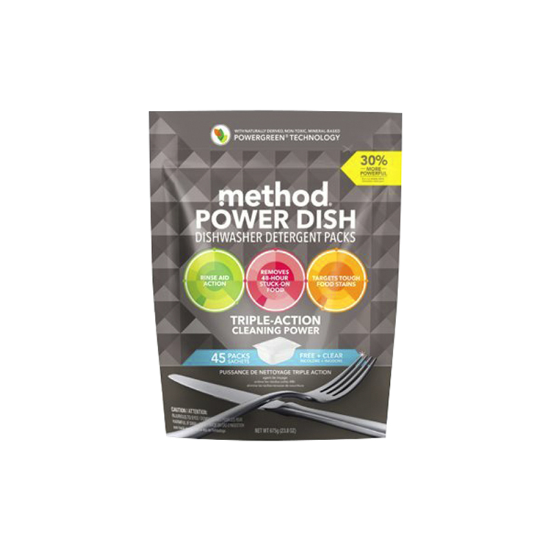 Method Power Dish Free + Clear Detergent Packs - 45s