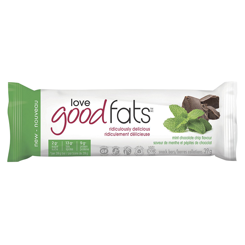 Suzie's Good Fats Snack Bar - Mint Chocolate Chip - 39g